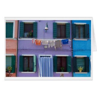 Burano, Venedig Italien Karte