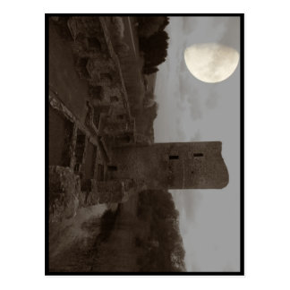 burg ruine postkarte