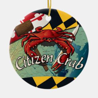 Bürger-blaue Krabbe von Maryland Keramik Ornament