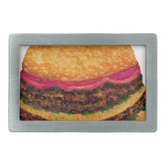 Burger-Nahrung 3 Rechteckige Gürtelschnalle