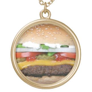 Burgerhalskette Halskette Mit Rundem Anhänger
