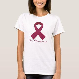 Burgunder-Band-Myeloma-Bewusstseins-T-Stück T-Shirt