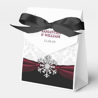 Burgunder-Band-Winter-Hochzeit Geschenkschachteln