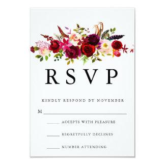 Burgunder BlumenWatercolor UAWG 8,9 X 12,7 Cm Einladungskarte