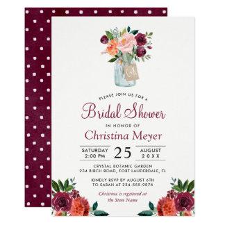Burgunder erröten rosa 12,7 x 17,8 cm einladungskarte