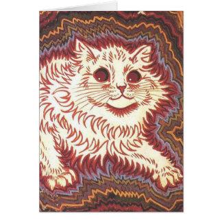 Burgunder Katzen Karte