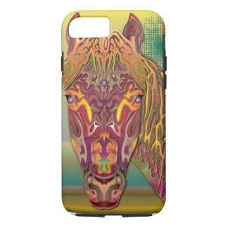 Burgunder-Pferd iPhone 8/7 Hülle