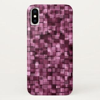 Burgunder-Pixel iPhone X Hülle