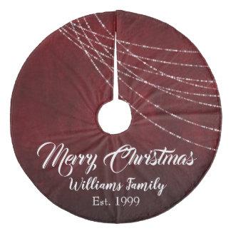 Burgunder-Schönheits-frohe Weihnachten extravagant Fleece Weihnachtsbaumdecke