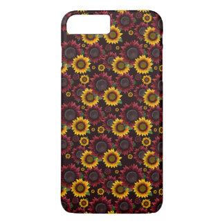 Burgunder u. gelbe Sonnenblumen iPhone 8 Plus/7 Plus Hülle