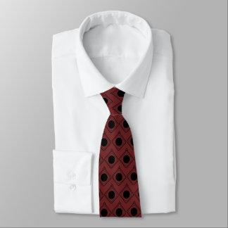 Burgunder u. Schwarzes eingepackt - in der Krawatte