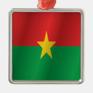 Burkina Faso Flagge Silbernes Ornament