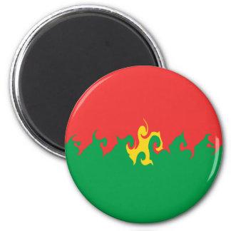 Burkina Faso Gnarly Flagge Kühlschrankmagnete