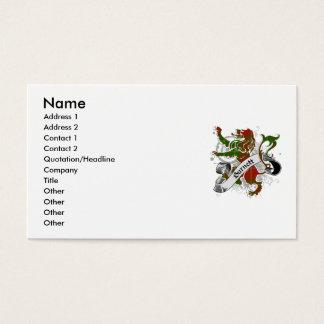 Burnett Tartan-Löwe Visitenkarten