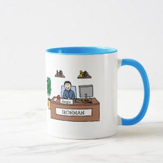 Büro-Athlet - personalisierte Cartoon-Tasse Tasse