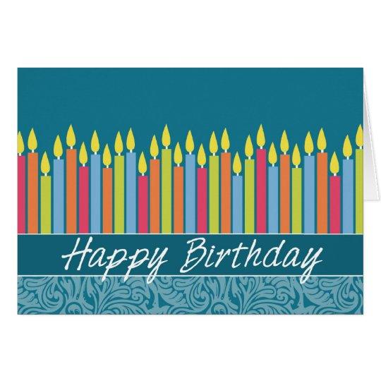 Büro-Geburtstags-Karte mit Kerzen Grußkarte