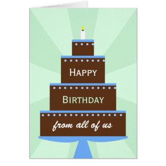 Büro-Mitarbeiter-Gruppen-Geburtstags-Karten-Kuchen Karte