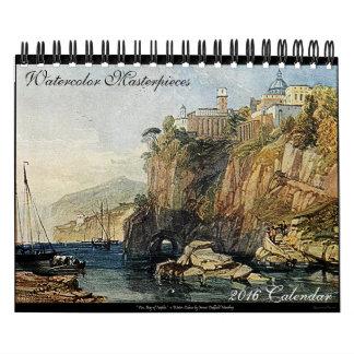Büro-Tischkalender der Aquarell-Kunst-2016 schöner Abreißkalender