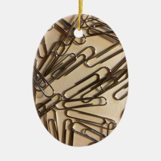 Büroklammern für die Papierperson Keramik Ornament