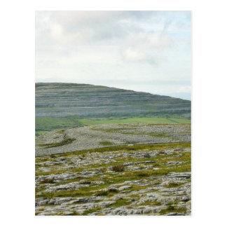 Burren bewölkt Gebirgshügel Postkarte