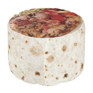 Burrito-Puff-Kissen Hocker