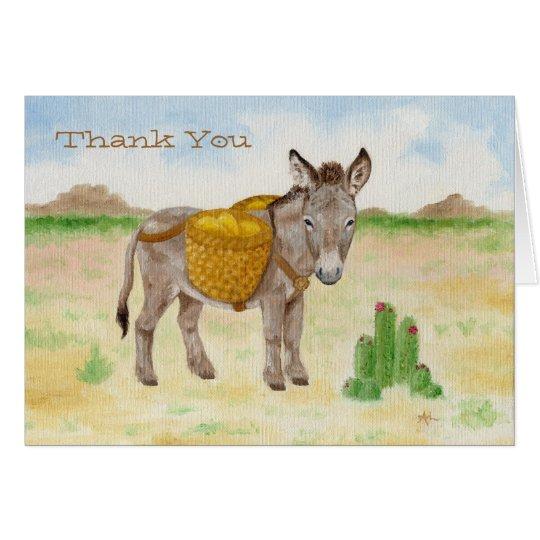 Burro mit Korb danken Ihnen notecard Karte
