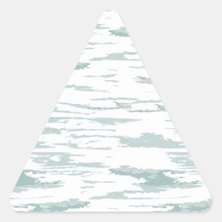 Bürste streicht Muster 10 Dreieckiger Aufkleber