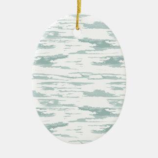 Bürste streicht Muster 10 Ovales Keramik Ornament