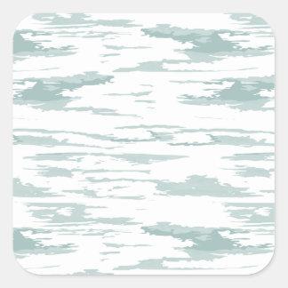 Bürste streicht Muster 10 Quadratischer Aufkleber