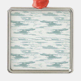 Bürste streicht Muster 10 Quadratisches Silberfarbenes Ornament