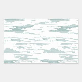 Bürste streicht Muster 10 Rechteckiger Aufkleber