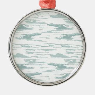 Bürste streicht Muster 10 Rundes Silberfarbenes Ornament