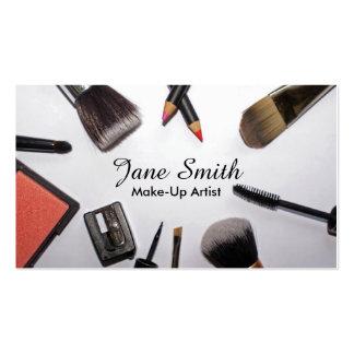 Bürsten und Produkt-Make-upkünstler-Visitenkarten Visitenkarten
