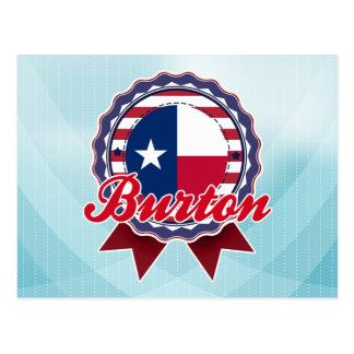 Burton, TX Postkarte