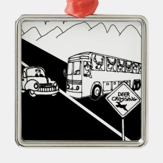 Bus-Cartoon 3251 Silbernes Ornament