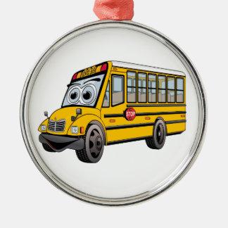 Bus-Cartoon der Schule2017 Silbernes Ornament