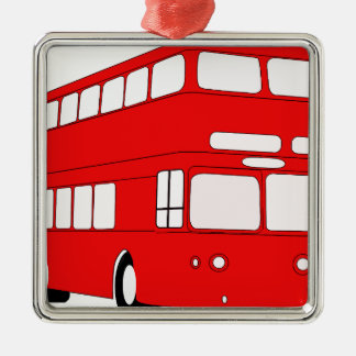 Bus Silbernes Ornament