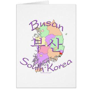 Busan Südkorea Karte