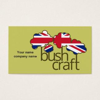 Bushcraft Vereinigtes Königreich Flagge Visitenkarte