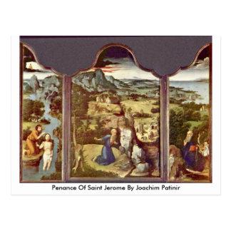 Buße des Heiligen Jerome durch Joachim Patinir Postkarte