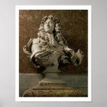 Buste de portrait de Louis XIV (1638-1715), 1665,  Posters