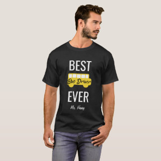 Bustreiber-überhaupt personalisierter Schulbus der T-Shirt