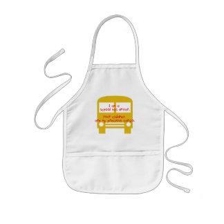 Bustreiber-wertvoller Fracht-Gelb-Bus Kinderschürze