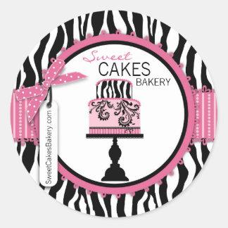 Butikechic-Kuchen-Geschäfts-Aufkleber Runder Aufkleber