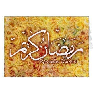 Büttenpapier-islamische Kunst-Karte Ramadans Karte