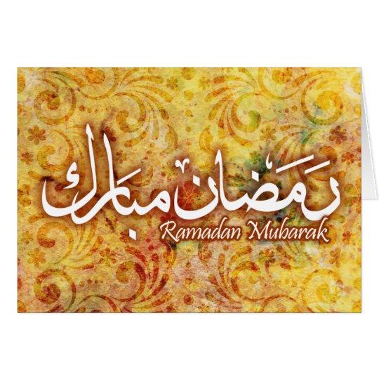 Büttenpapier-islamische Kunst-Karte Ramadans Mitteilungskarte