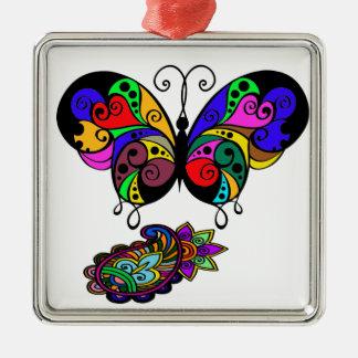 butterfly an~ordnen sie an silbernes ornament