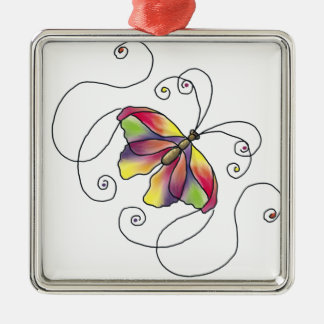 Butterfly Silbernes Ornament