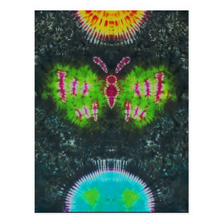 """Butterflying im Raum"" gebatikter Druck, Postkarte"