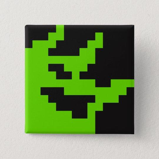 Button des Störschub-(Maskottchen 2-Bit)